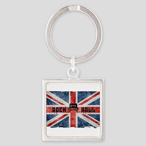 ROCK ROLL-BRITISH FLAG Keychains