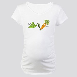 Peas and Carrot Maternity T-Shirt