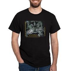 The Original Black Sweater, White Cat T-Shirt