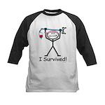 Breast Cancer Survivor Kids Baseball Jersey