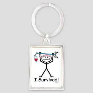 Breast Cancer Survivor Portrait Keychain