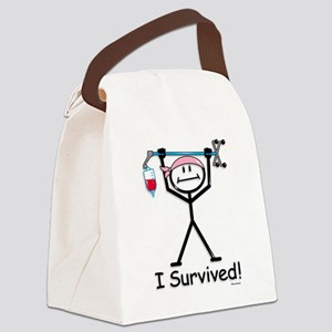 Breast Cancer Survivor Canvas Lunch Bag
