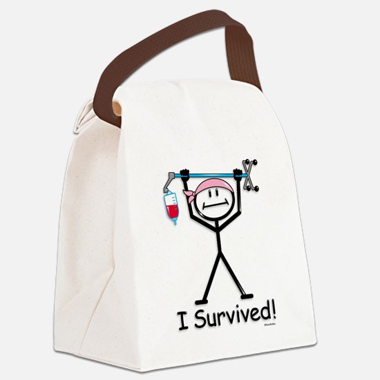 Breast Cancer Survivor Canvas Lunch Bag