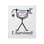 Breast Cancer Survivor Throw Blanket