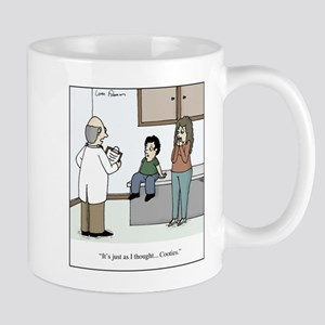 Doctor diagnosis kid with cootie 11 oz Ceramic Mug