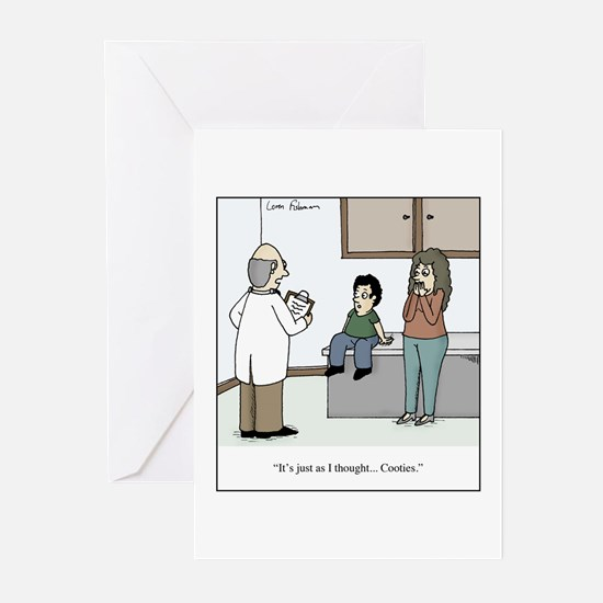 Doctor diagnosis kid wit Greeting Cards (Pk of 10)