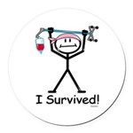 Breast Cancer Survivor Round Car Magnet