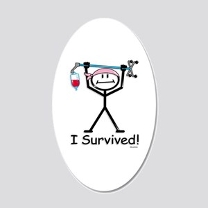 Breast Cancer Survivor 20x12 Oval Wall Decal