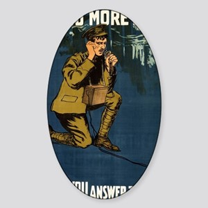 Send More Men Wont You Answer The C Sticker (Oval)