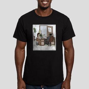 SAT Cultural Bias Men's Fitted T-Shirt (dark)