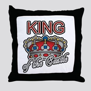 Father's Day King of the Castle Throw Pillow