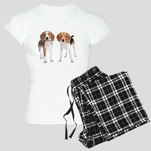 Two Beagle Dogs Women's Light Pajamas