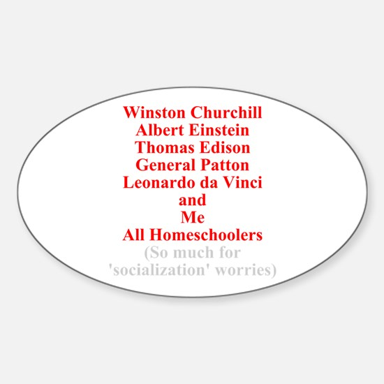 Famous Homeschoolers Oval Decal
