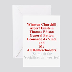 Famous Homeschoolers Greeting Cards (Pk of 10)