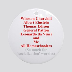Famous Homeschoolers Ornament (Round)