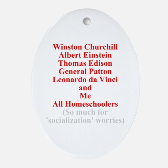 Famous Homeschoolers Oval Ornament