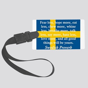 Fear Less, Hope More Luggage Tag
