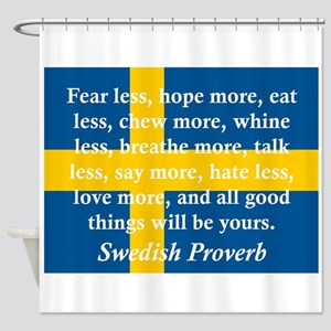 Fear Less, Hope More Shower Curtain
