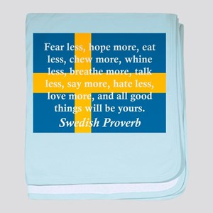 Fear Less, Hope More baby blanket