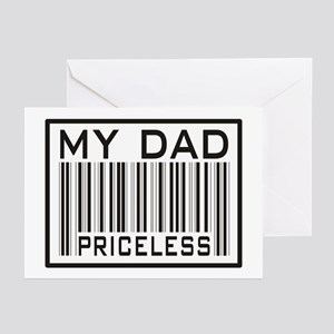 Father's Day My Dad Priceless Greeting Cards (Pack