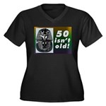 Tutankhamun, 50th Women's Plus Size V-Neck Dark T-