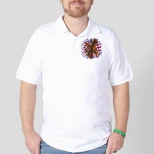 Irish Setter Patriotic Golf Shirt