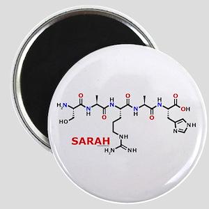 Sarah name molecule Magnet