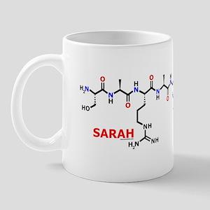 Sarah name molecule Mug