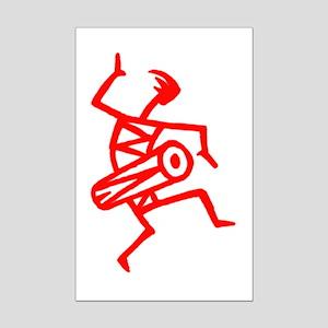 Drumming Petroglyph Mini Poster Print