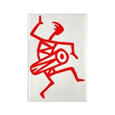 Drumming Petroglyph Rectangle Magnet
