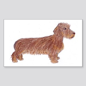 teal_mug_dachshund_wirehaired Sticker