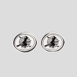 modern vintage Halloween Oval Cufflinks