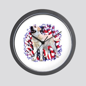 "Lab ""YLW"" Patriotic Wall Clock"