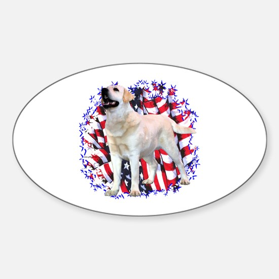 "Lab ""YLW"" Patriotic Oval Decal"