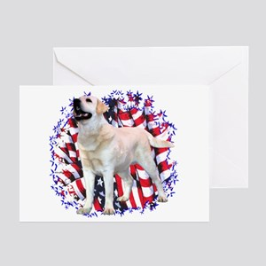 "Lab ""YLW"" Patriotic Greeting Cards (Pk of 10)"