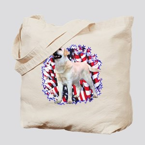"Lab ""YLW"" Patriotic Tote Bag"