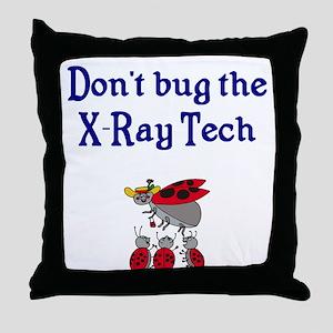X-Ray Tech Ladybugs Throw Pillow