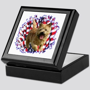 Norwich Terrier Patriotic Keepsake Box