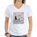 Bum gives profits to charit Women's V-Neck T-Shirt
