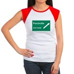 Porchville Exit Women's Cap Sleeve T-Shirt