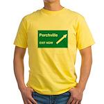 Porchville Exit Yellow T-Shirt