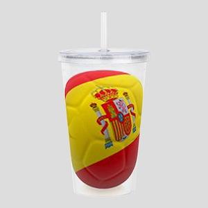 Spain world cup soccer ball Acrylic Double-wall Tu
