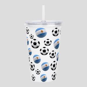 Argentina Soccer Balls Acrylic Double-wall Tumbler