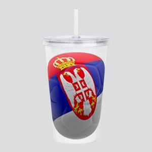 Serbia World Cup Ball Acrylic Double-wall Tumbler