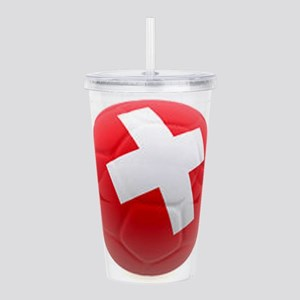 Switzerland World Cup Ball Acrylic Double-wall Tum
