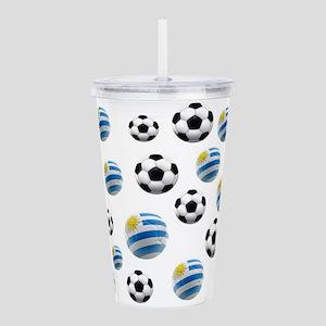 Uruguay Soccer Balls Acrylic Double-wall Tumbler