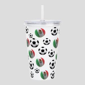 Mexican soccer balls Acrylic Double-wall Tumbler