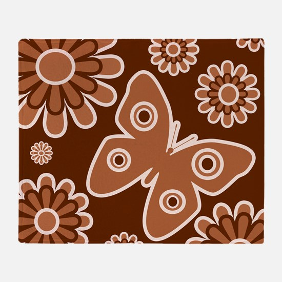 Butterfly and flowers throws Throw Blanket