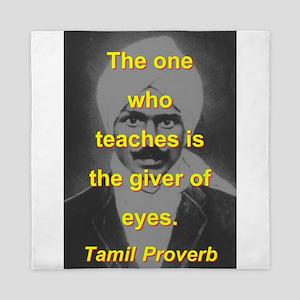 The One Who Teaches Queen Duvet