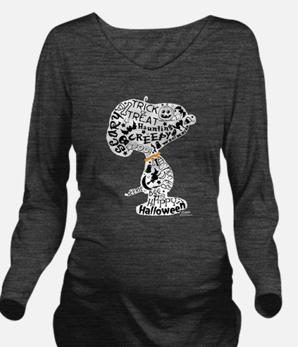 Halloween Snoopy Col Long Sleeve Maternity T-Shirt